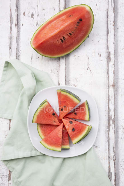 Top view of Sliced watermelon — Stock Photo