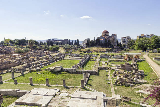 Greece, Attica, Athens, ancient grave yard Kerameikos — Foto stock