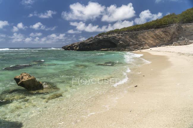 Mauritius, Rodrigues island, Beach Anse Philibert — стокове фото