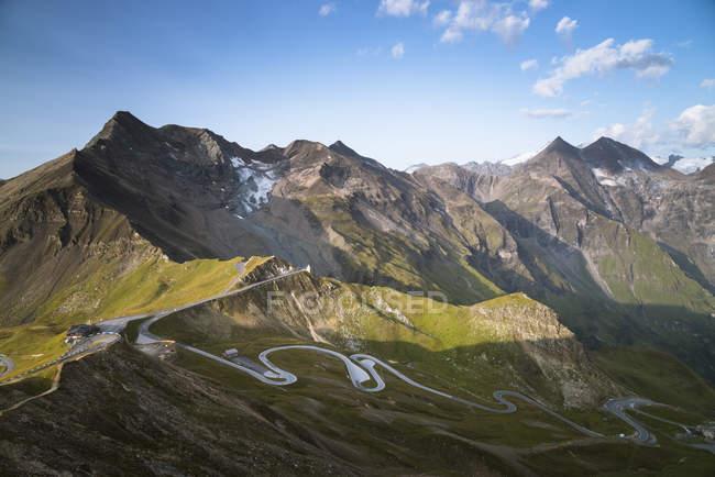 Austria, Salzburg State, View from Edelweissspitze to Grossglockner, Fuscherkarkopf — стокове фото
