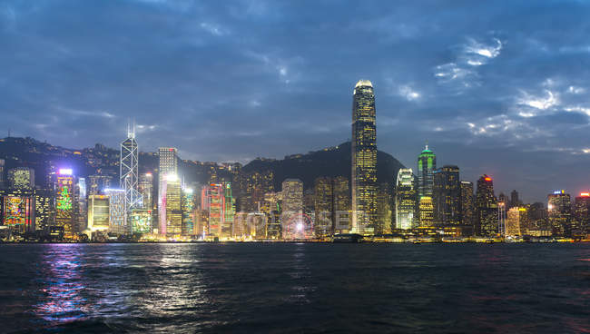 China, Hong Kong, Central, city view in the evening — Stock Photo