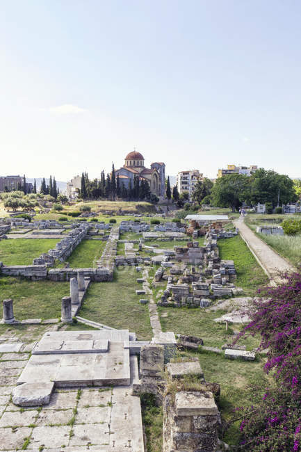 Grecia, Ática, Atenas, antiguo cementerio Kerameikos - foto de stock