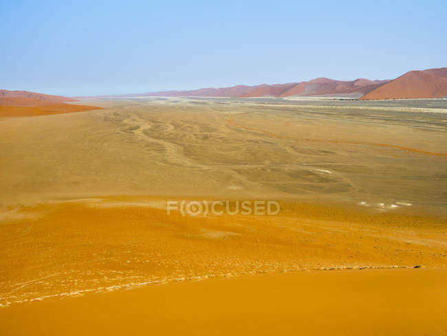 Africa, Namibia, Naukluft National Park, Sossusvlei, View from Dune 45 — Stock Photo