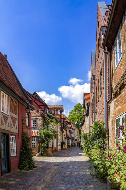 Germany,  Lower Saxony, Lueneburg, Old town, alley — Stock Photo