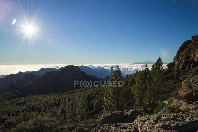Spanien, Kanarische Inseln, Gran Canaria, Blick von Roque Nublo — Stockfoto