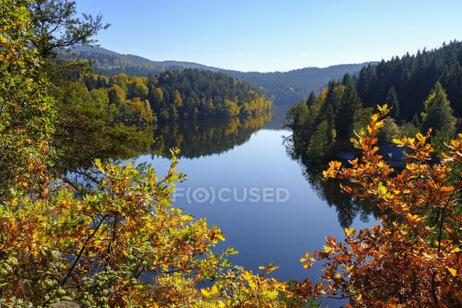 Germany, bavaria, Bavarian Forest, Hoellensteinsee, dam at river Regen — стоковое фото