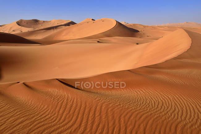 Oman, Dhofar, sand dunes in the Rub al Khali desert — Stock Photo
