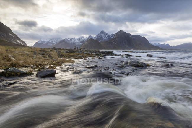 Norvège, Lofoten, Vareid, Flakstad, plage — Photo de stock