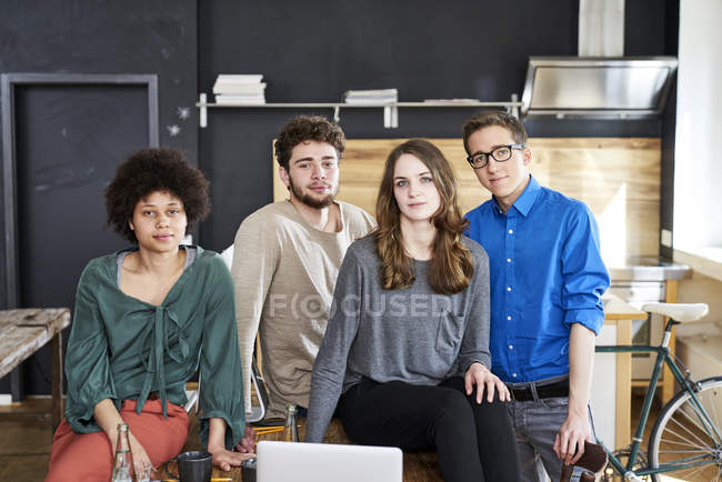 Portrait of confident coworkers in office — Stock Photo