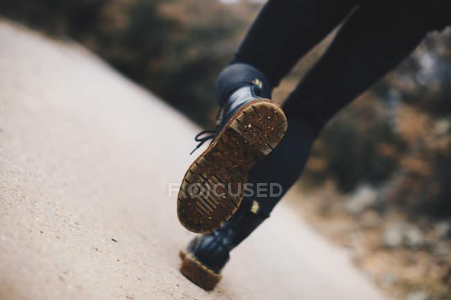 Sola suja de botas, close-up — Fotografia de Stock