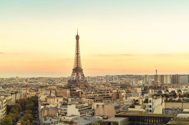 France, Paris, view to Eiffel Tower — Stock Photo
