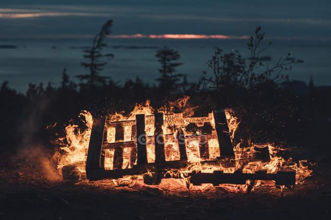 Canada, Colombie-Britannique, palettes brûlantes — Photo de stock