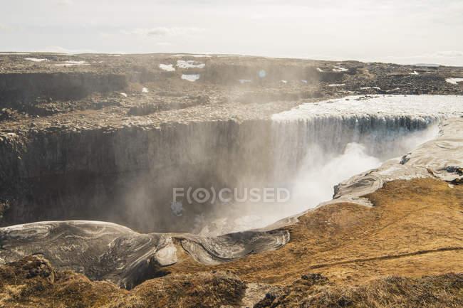 Islanda, cascata di Dettifoss di giorno — Foto stock