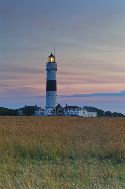 Germany, North Frisia, Sylt, Kampen lighthouse at the sunset — Stock Photo