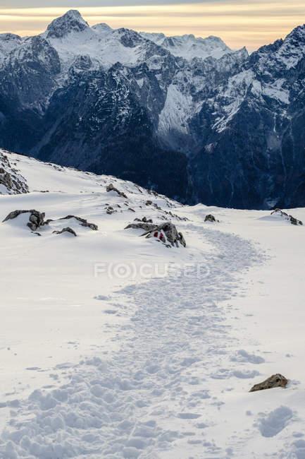 Allemagne, Bavière, Alpes de Berchtesgaden, Vue sur Schneibstein — Photo de stock