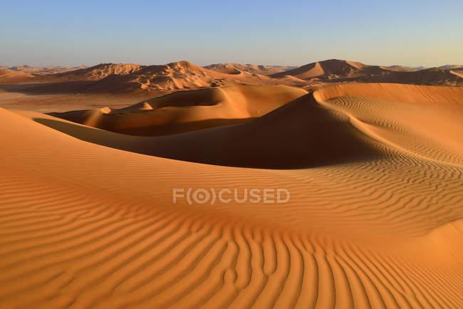 Oman, Dhofar, sand dunes in the Rub al Khali desert — Foto stock