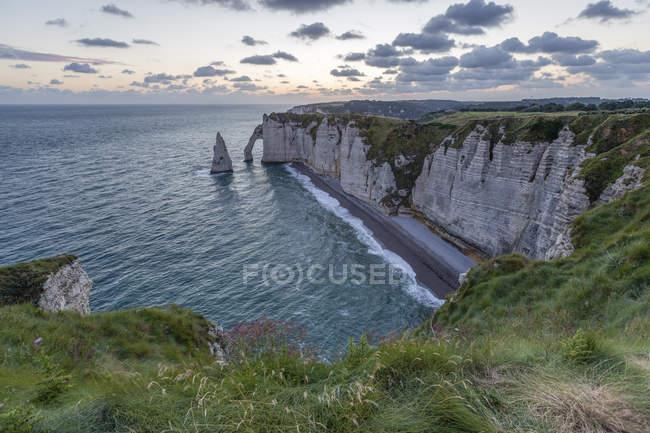 France, Normandy, Etretat, Cliffs — Stock Photo