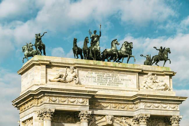 Italy, Lombardy, Milan, Arco della Pace, triumphal arch — Foto stock