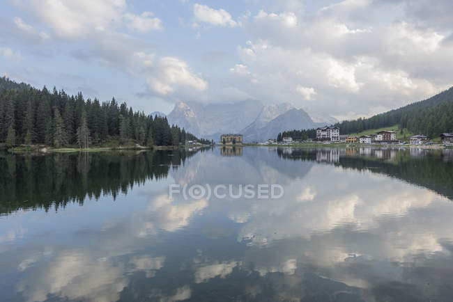 Italy, Alps, Dolomites, Lake Misurina — Stock Photo