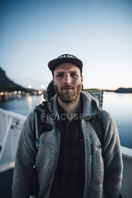 Канада, Британська Колумбія, портрет людини на західному узбережжі — стокове фото