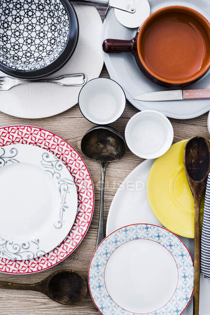 Place setting, chaos close up — Stock Photo