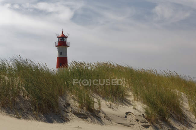 Germany, North Frisia, Sylt, Lighthouse List East — Stockfoto