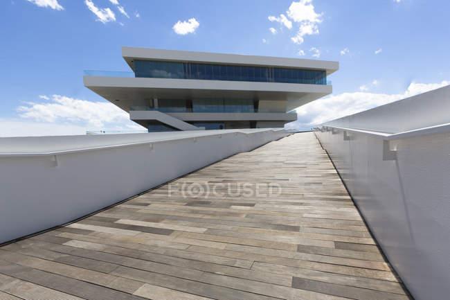 Spagna, Valencia, Veles e Vents, America's Cup Building — Foto stock