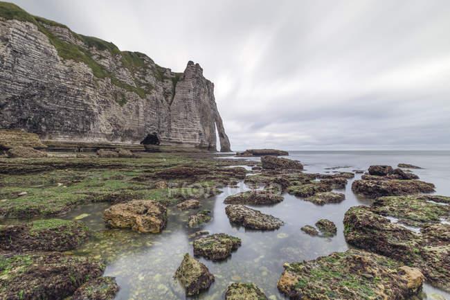 Francia, Normandia, Etretat, Cliffs — Foto stock