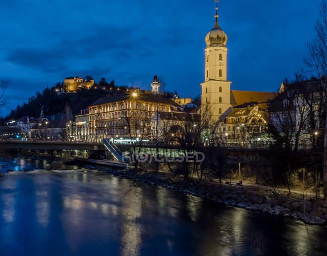 Austria, Styria, Graz, Grazer Schlossberg, Franciscan Church — Stock Photo