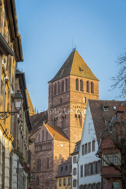 France, Alsace, Strasbourg, La Petite France, Thomas Church — Foto stock