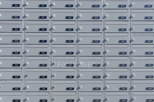 Mail boxes with  numbers — Stock Photo