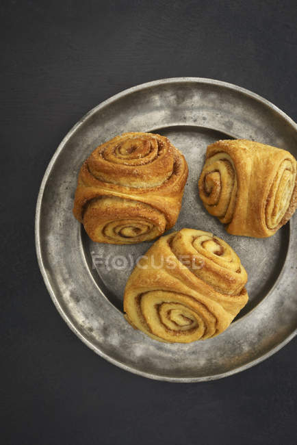 Top view of Home-baked Franzbroetchens — Stock Photo