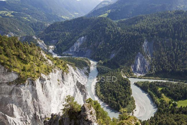 Switzerland, Grisons, Rio de Rhine e Ruinaulta, Rhine anterior — Fotografia de Stock