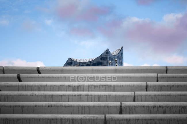 Germany, Hamburg, upper part of Elbe Philharmonic Hall — Stock Photo