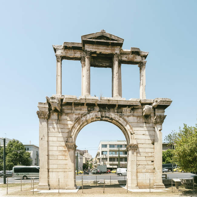 Grèce, Athènes, Arc d'Hadrien — Photo de stock