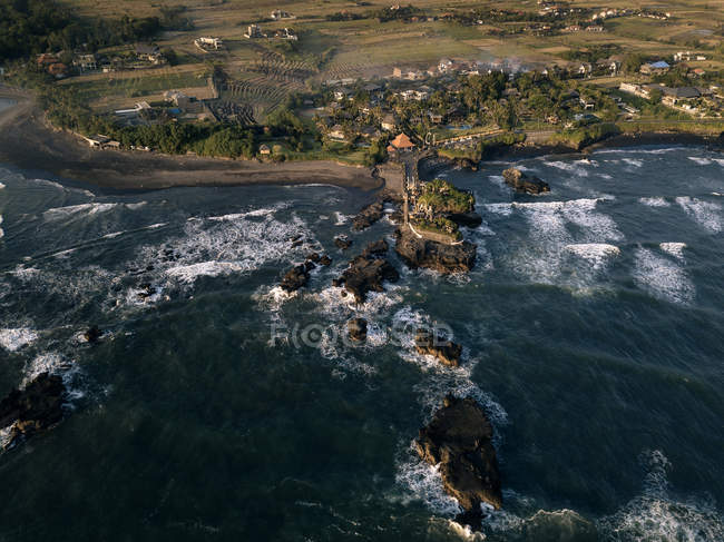 Indonesia, Bali, Indian Ocean, Aerial view of coast — Stock Photo