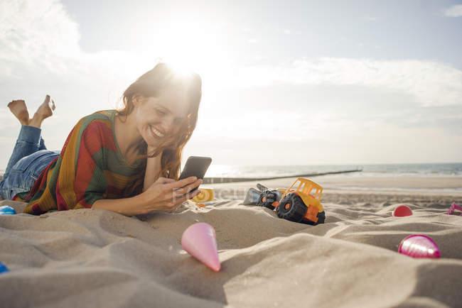 On woman beach lying Woman Lying
