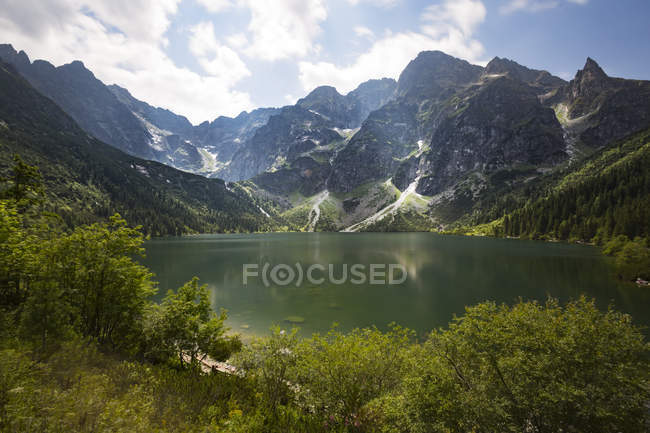 Polonia, Alti Monti Tatra, Tatra, Parco Nazionale dei Tatra, Morskie Oko e Rysy — Foto stock
