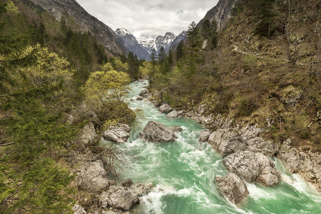 Eslovénia, Goriska, rio Soca — Fotografia de Stock