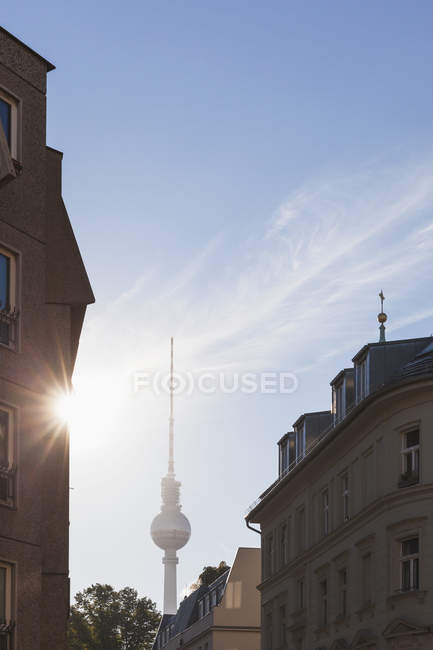 Germany, Berlin, view to television tower at backlight - foto de stock