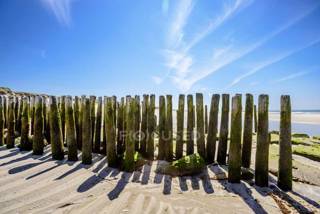 Molhes de Sylt, mar do Norte, estado de Schleswig-Holstein, Alemanha — Fotografia de Stock