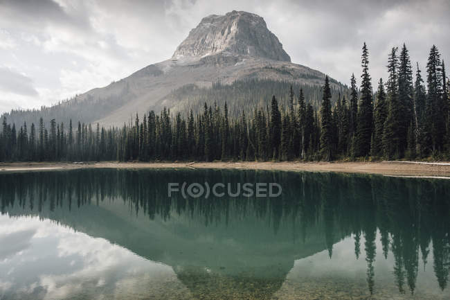 Canada, British Columbia, Yoho Lake, Yoho National Park, Wapta Mountain, Rocky Mountains — Stockfoto