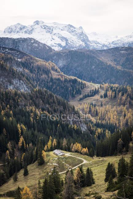 Allemagne, Bavière, Alpes de Berchtesgaden, Schneibstein en automne — Photo de stock