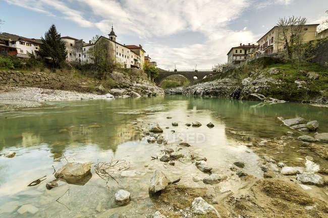 Slovénie, Littoral slovène, Kanal ob Soci — Photo de stock