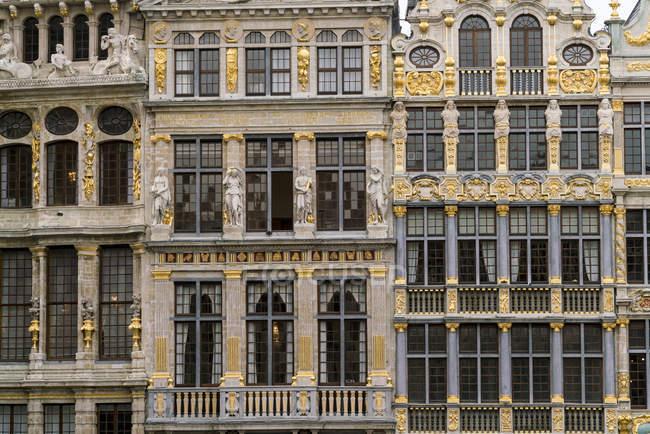 Belgio, Bruxelles, Grote Markt, parte delle facciate — Foto stock
