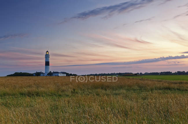 Germany, North Frisia, Sylt, Kampen lighthouse at the sunset — Stockfoto