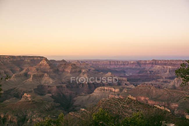 США, Аризона, Величний Національний Парк Глибоої ущелини, Велична Глибоа ущелина на заході сонця — стокове фото