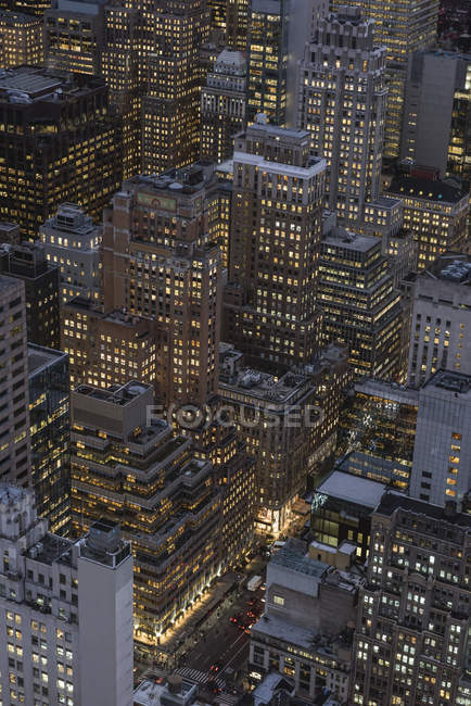 États-Unis, New York, Manhattan, vue depuis la plateforme d'observation Top of the Rock — Photo de stock