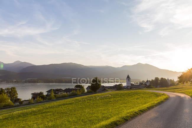 Австрія, Зальцбург держави, Зальцкаммергут, Санкт-Вольфганг озера Фушль — стокове фото