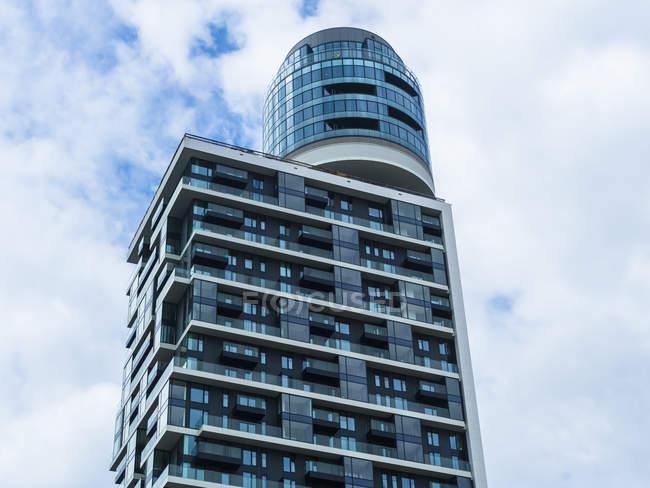 Germany, Frankfurt, new Henninger Tower — Stock Photo